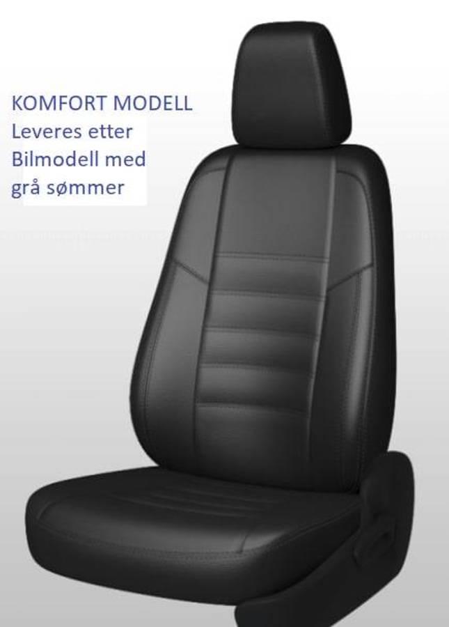 Ford Transit Custom 2013-> Setetrekk i Skinn 1+2